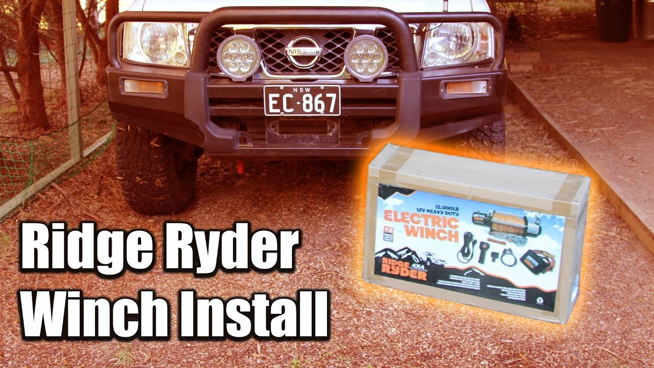 ridge ryder winch instructions