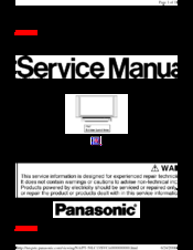 Panasonic rear projection tv manual