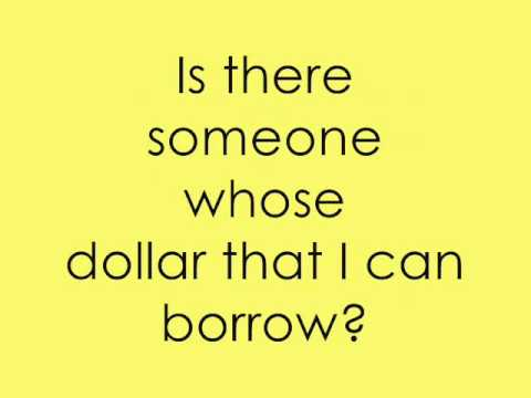 I need a dollar lyrics pdf