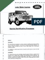 land rover water ingress manual