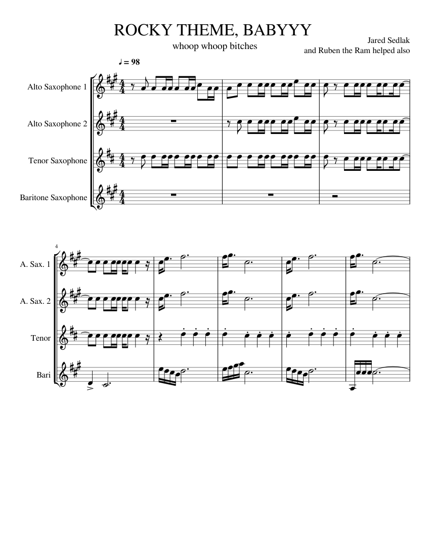 Rocky theme song sheet music pdf