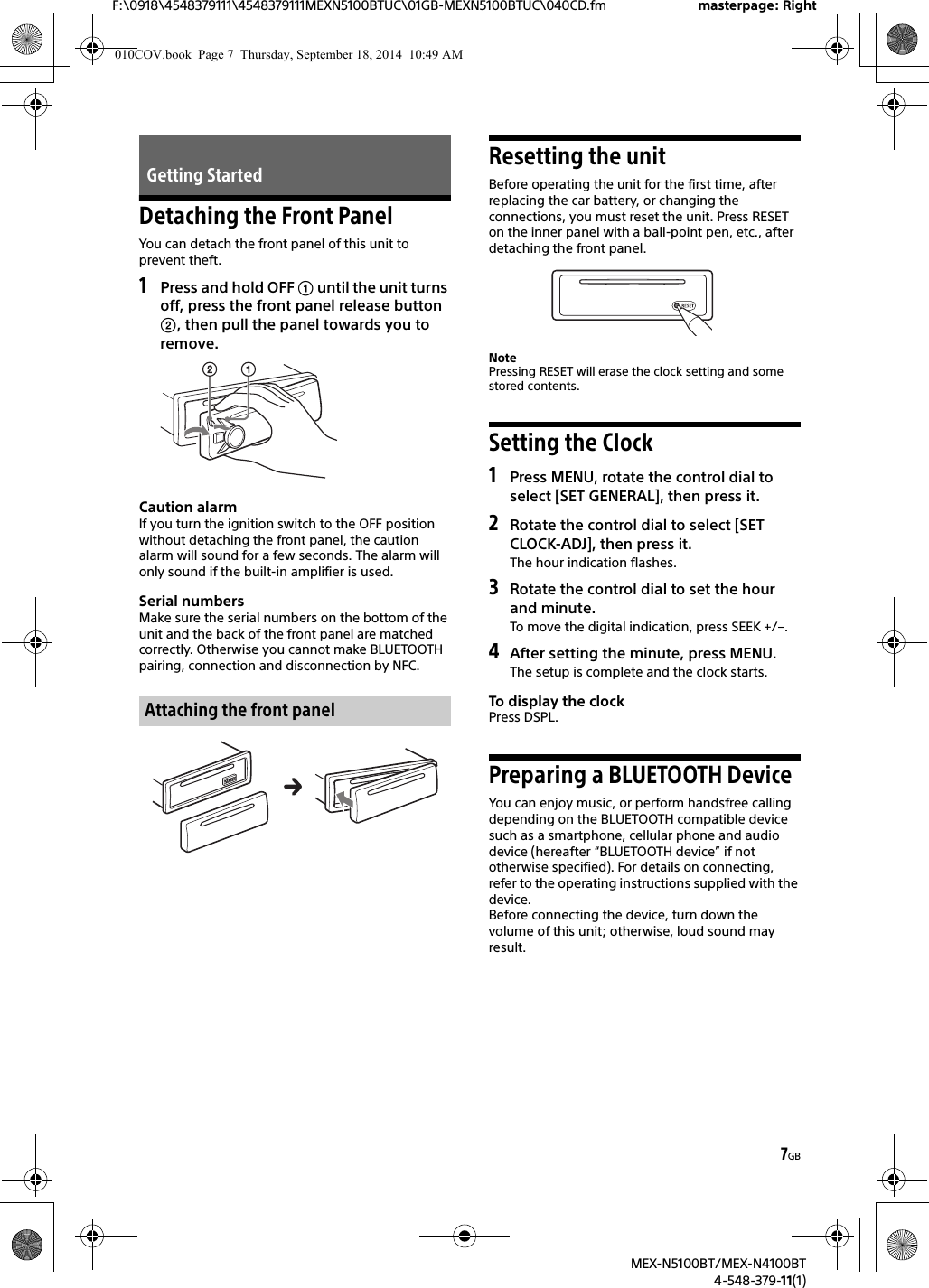 Sony mex n5100bt manual pdf