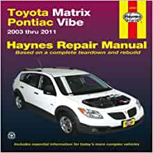 2003 toyota matrix repair manual download