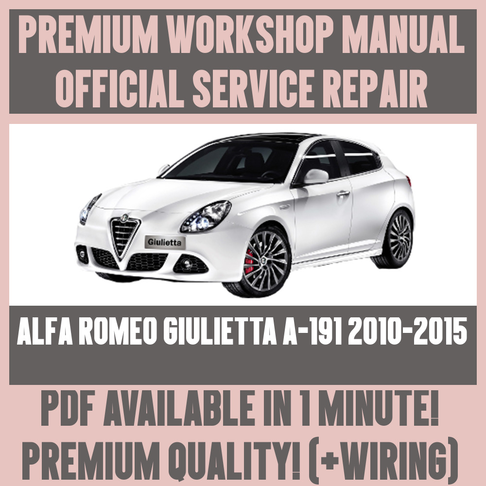 Alfa romeo giulietta user manual