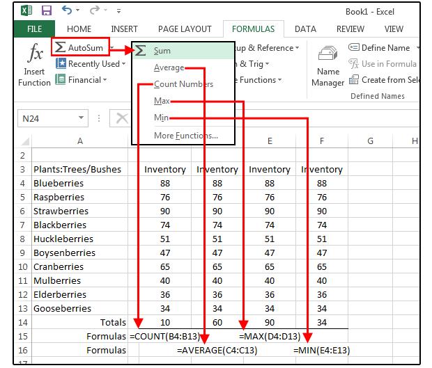 Ms excel formula list in pdf
