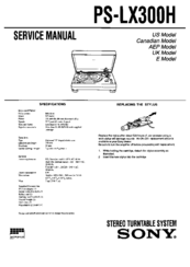 sony ps lx250h service manual