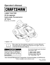 craftsman lawn mower lt2000 owners manual