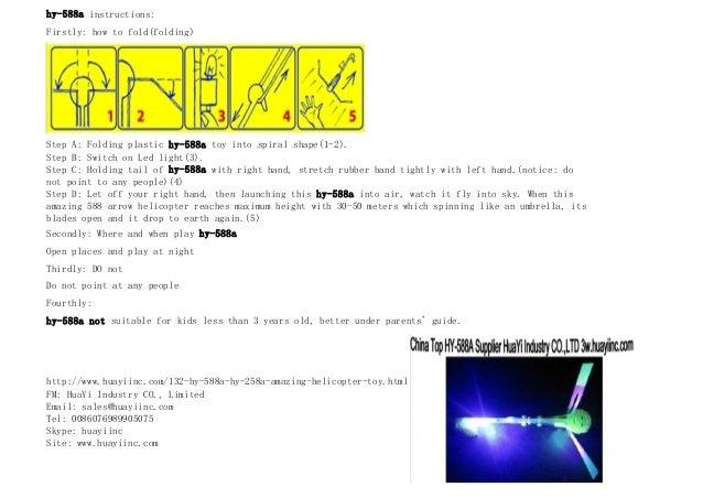 Led slingshot helicopter instructions