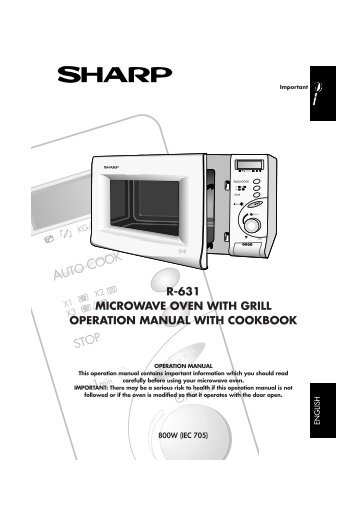 Sharp microwave grill instructions