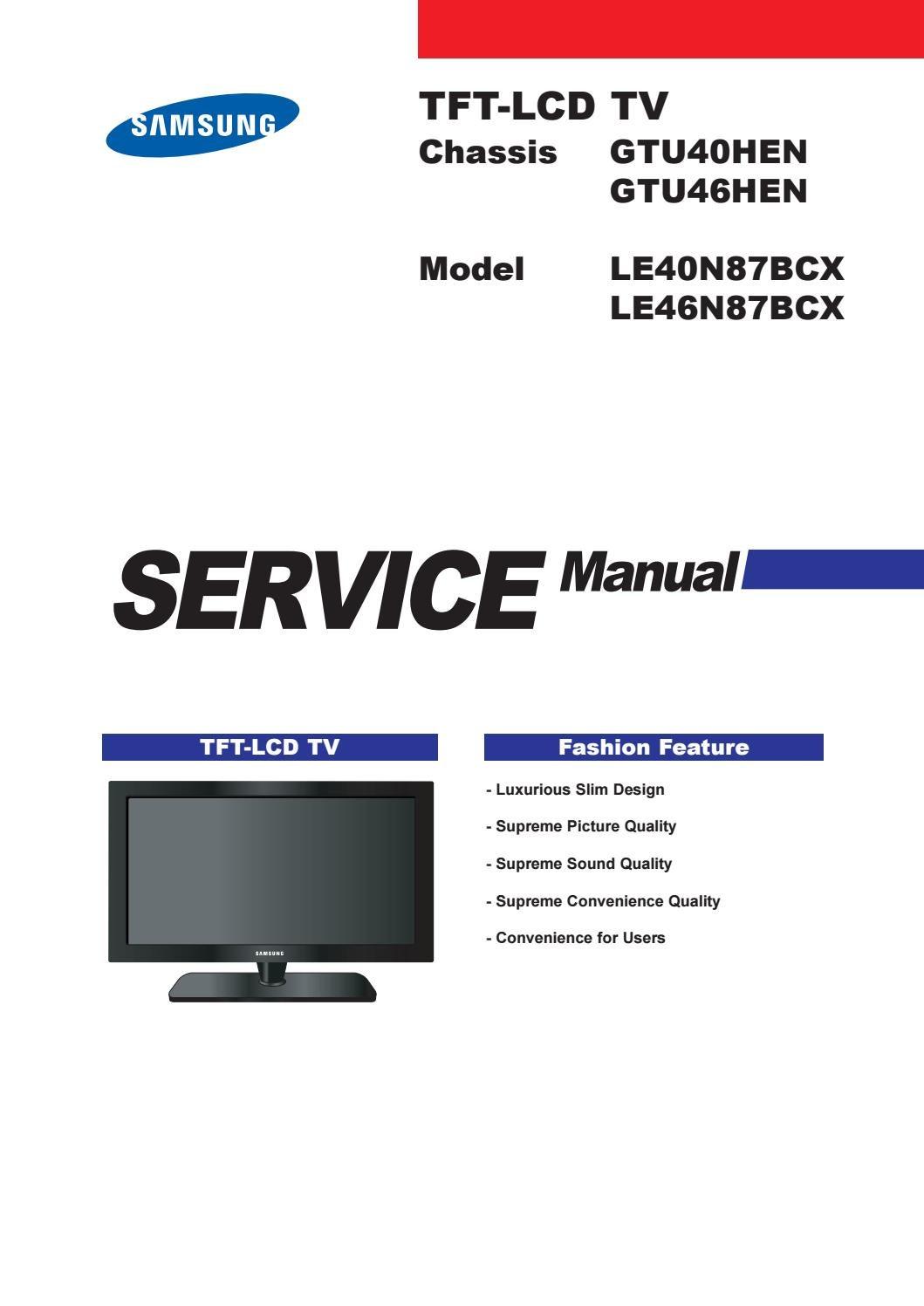 samsung led tv series 8 e manual