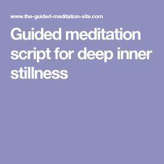 Guided meditation script for inner peace