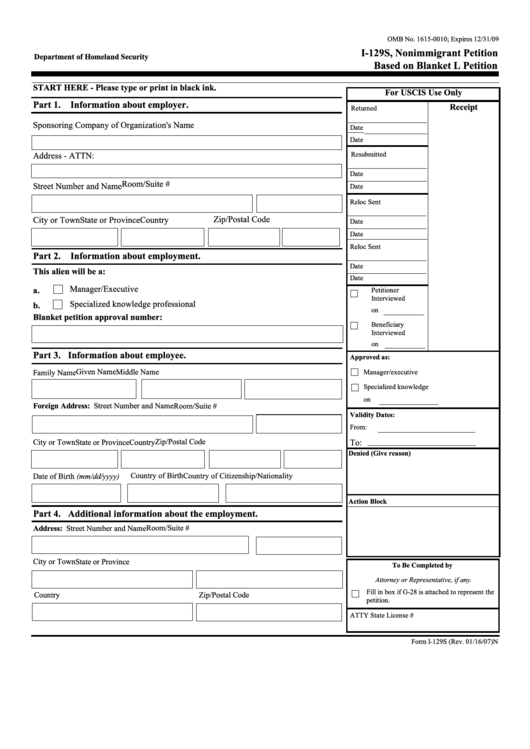 uscis form i 129 instructions