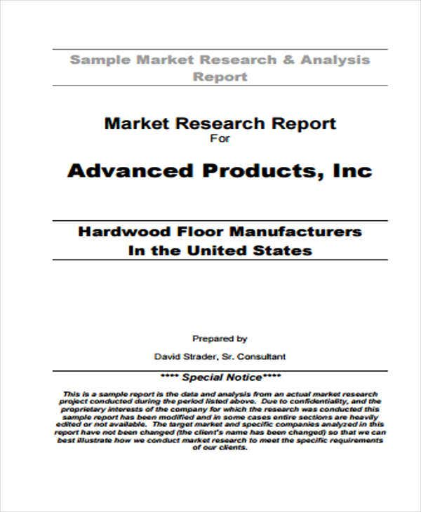 Free market research reports pdf