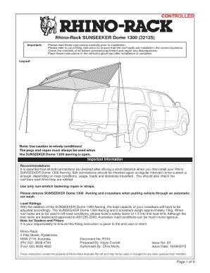 Rhino rack fitting instructions