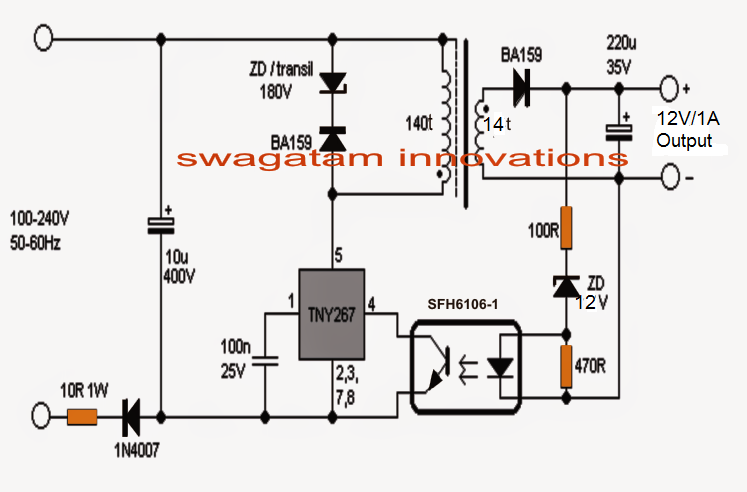 Smps circuit diagram with explanation pdf