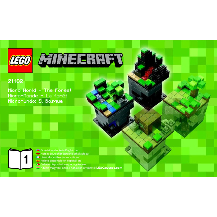 lego minecraft forest instructions