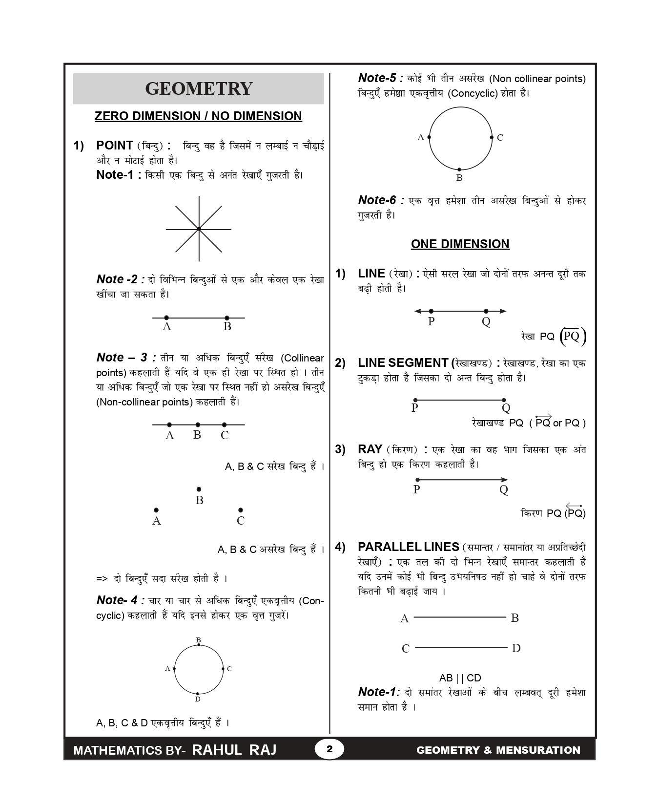 All mensuration formulas in maths pdf in hindi