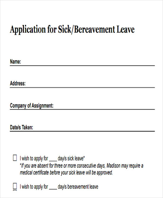 Application of two days sick leave