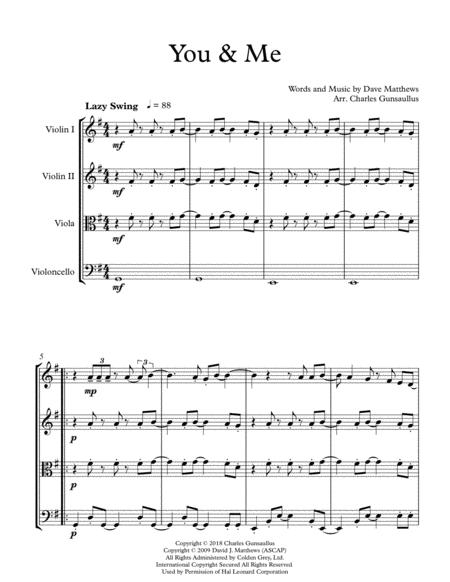 You and me dave matthews sheet music pdf