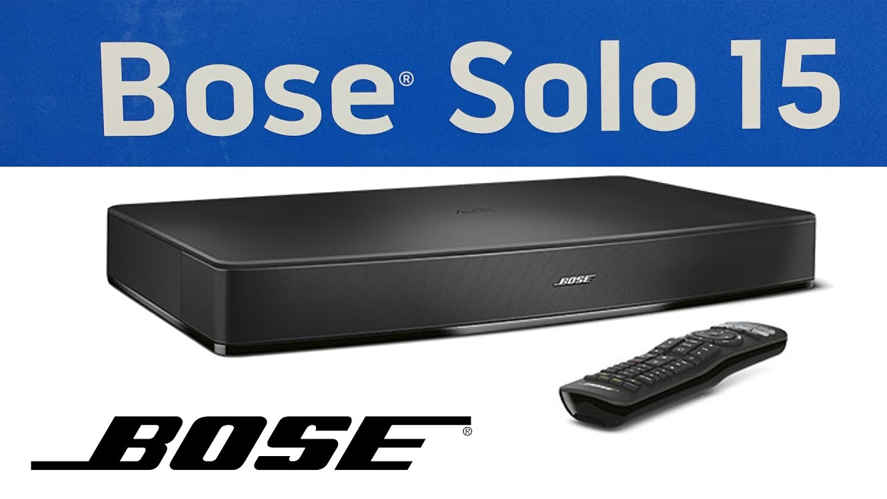 Bose solo 15 series ii manual
