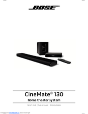 bose soundbar cinemate 130 manual