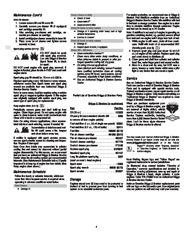 Briggs and stratton 675 manual pdf