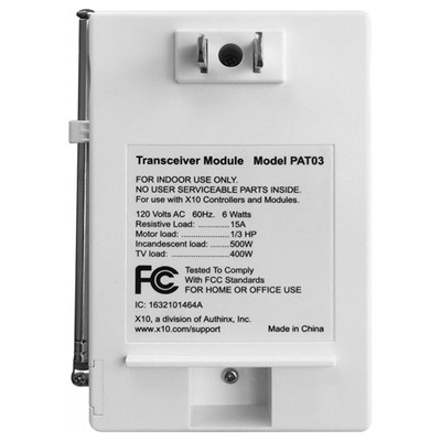 X10 powerhouse transceiver module manual