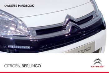citroen berlingo 2008 manual pdf