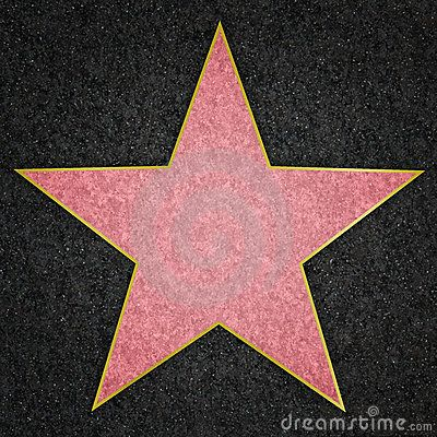 Hollywood walk of fame star template document