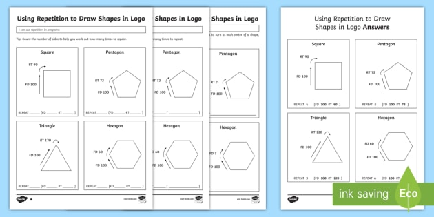 instructions to draw 2d shapes