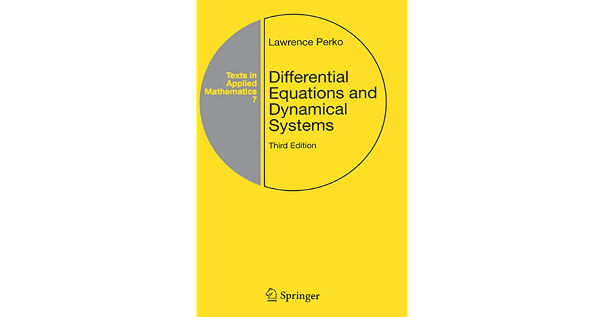 Introduction to dynamical systems pdf