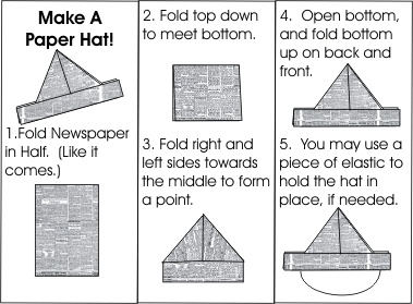 paper sailor hat instructions