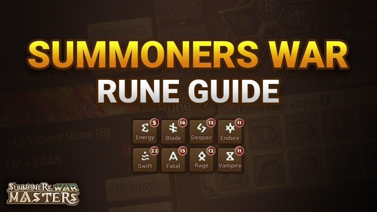 Summoners war monster rune guide